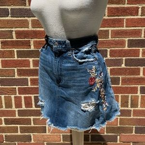Abercrombie and Fitch Distressed Floral Skirt